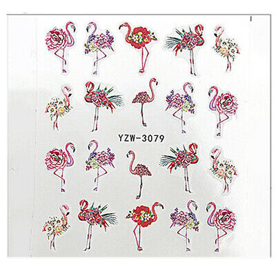 Nail Art Nagel Sticker Aufkleber Flamingo Sommer Tropical YZW-3079