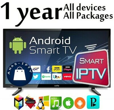 1 year Iptv Subscription Smart iptv M3U Android Box MAG🔥12 month World Package
