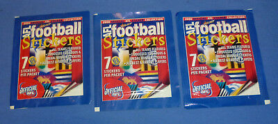 2000 Select Unopen X 3 Packets AFL Football stickers 7 sticker per pack Mint
