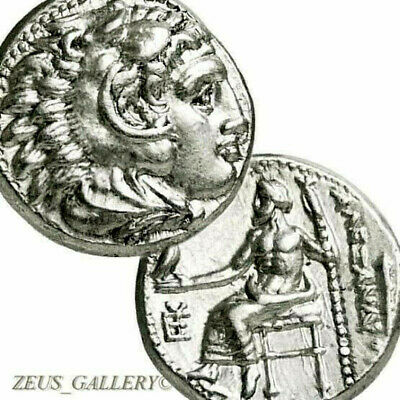 Rare ALEXANDER the Great Lifetime Issue Sardes Ancient Silver Coin Herakles Zeus