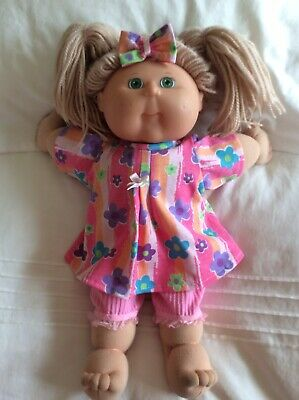 "DOLLS CLOTHES TO FIT 16"" CABBAGE PATCH DOLL -  3Piece Set Pink Flowers"
