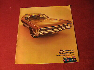 1970 Plymouth Station Wagon Showroom Sales Brochure Original Old Vintage