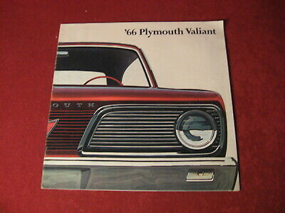 1966 Plymouth Valiant Showroom Salesman Dealership Brochure Original Mopar Old