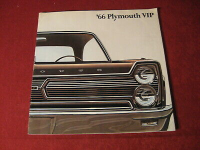 1966 Plymouth VIP Showroom Salesman Dealership Brochure Original Mopar Old