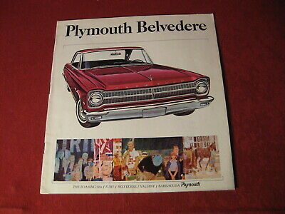 1965 Plymouth Belvedere Showroom Salesman Dealership Brochure Original Mopar Old