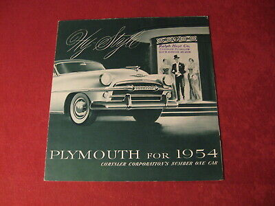 1954 Plymouth Showroom Salesman Dealership Brochure Original Old Vintage poster