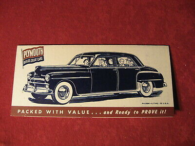 1950 Plymouth Showroom Salesman Dealership Brochure Original Old Vintage poster