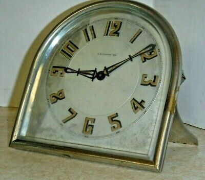 Antique Fancy J.e. Caldwell French Desk Mantle Clock 8 Day Working Art-Deco