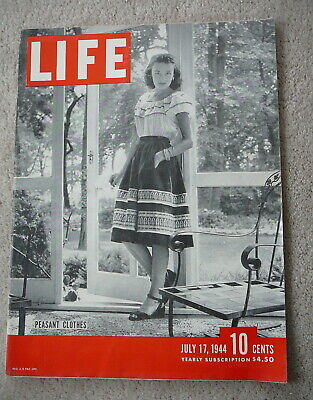 Life Magazine - July 17 1944 - Peasant Clothes - Marianas Battle & Task Force 58