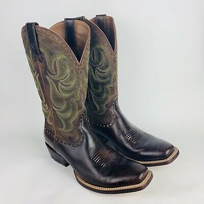 ce279956b0c MEN'S ARIAT 10012763 Turnback Square Toe leather Western Cowboy Boot 9.5D  $229