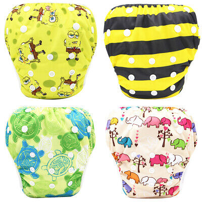 Swim Nappy Bottom Adjustable Reusable Pant Diaper Baby Toddler Boy Kid Girl