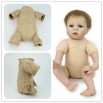 "22"" Newborn Doll Kits With 3/4 Limbs Reborn Baby Dolls Doe Suede Bodies"