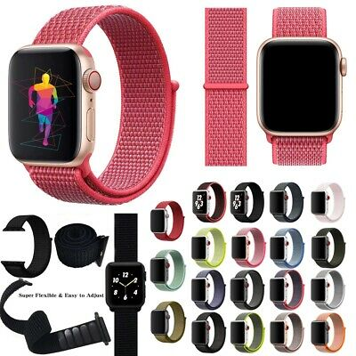 Sport Loop Woven Nylon Replacement Band Strap For Apple Watch Series4/3 44/42MM