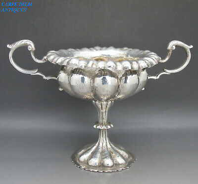 ANTIQUE GORGEOUS HEAVY SOLID STERLING SILVER SUGAR BOWL, 226g, CHESTER 1906