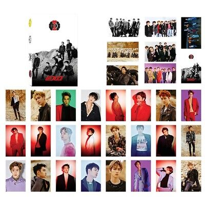 32pcs Set Kpop EXO Love Shot Paper Lomo Photo Card New Album Photocards 2019