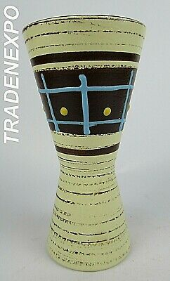 Vintage 1960-70's SCHEURICH 244-17 Diabolo Vase West German Pottery Fat Lava Era