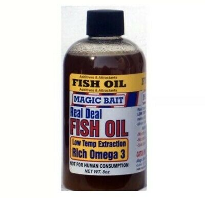 Magic Bait Fish Oil,- Fishing Lure Additive & Attractants - Rich Omega 3* 8oz*