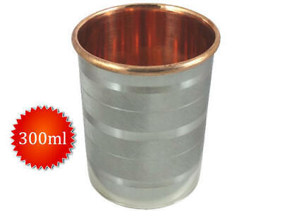 Copper and Stainless Steel Drinkware Glass Cup Tumbler For Water Drinking-F Ship