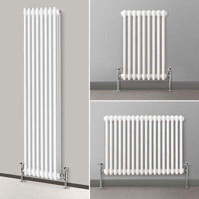 Traditional 3 Column Radiator Bathroom Vintage Cast Iron Style Designer White