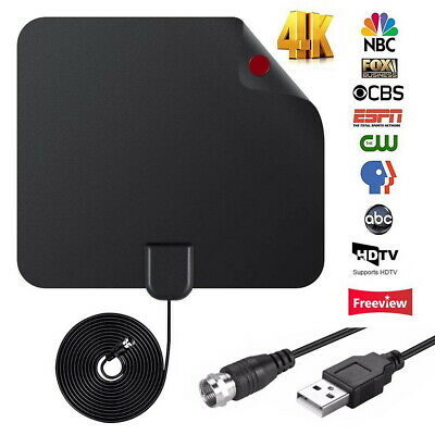 Antenna TV Digital HD 100 Mile Range Skywire Indoor 1080P 4K Aerial Amplified