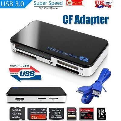USB 3.0 All In One Multi Memory Card Reader CF Micro SD HC SDXC TFLASH