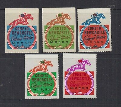 AUSTRALIA 1950s/60s (-) Newcastle Show Week -Cinderella- Rouletted - MUH (5)