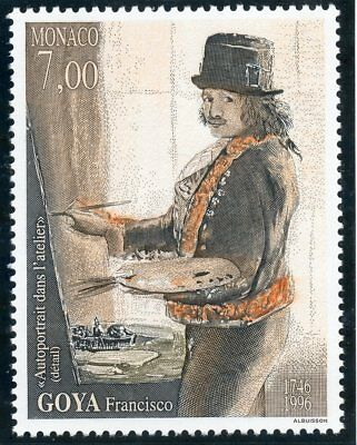 Stamp / Timbre De Monaco N° 2069 ** Art / Tableaux / Francisco Goya