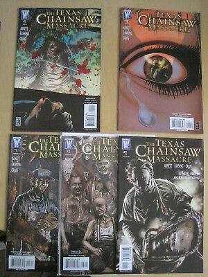 The TEXAS CHAINSAW MASSACRE : ISSUES 1,3,4,5 of the V GORY 6 ISSUE 2007 SERIES