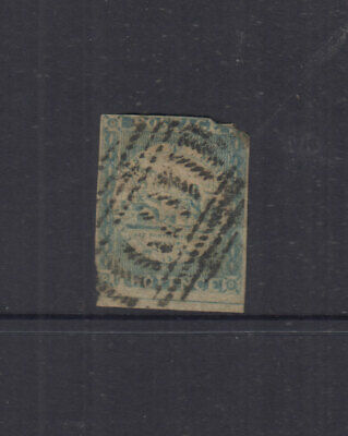 NSW 1850 2d Grey-blue SYDNEY VIEW - 3+margins-no corner-SG17  Cat £190 Used