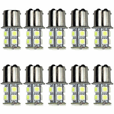 10X 1157 BAY15D 13 SMD 5050 Amber WHITE Tail Turn Signal LED Car Light Bulb Lamp