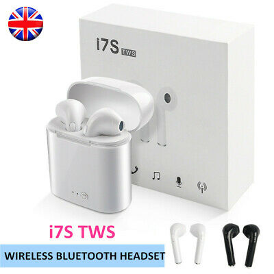 Wireless Bluetooth Earbuds Earpods Headphone For Mobile Phones Box i7S/i9S TWS