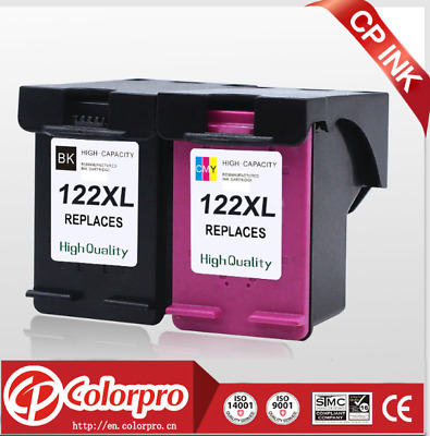 2 Pack for HP 122XL Black & Tri Color Ink Cartridge CH563HE CH564HE