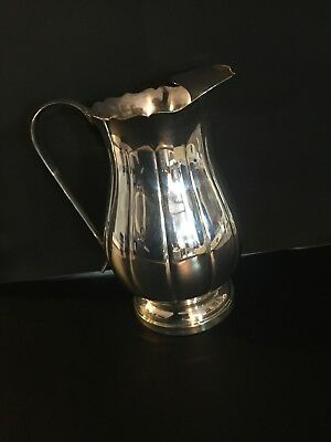 Antique Sheffield Co. Fluted Silver Pitcher