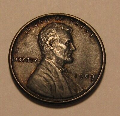 1909 VDB Lincoln Cent Penny - Extra Fine to AU Condition - 1SU