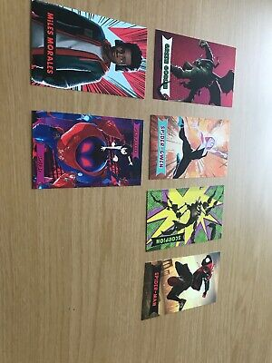 Spiderman Into The Spiderverse Set Of 6 Trading Cards