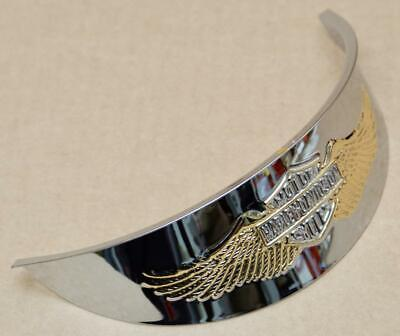 Harley original Scheinwerferschirm Eagle Wing chrome / gold Headlamp Visor 5 3/4