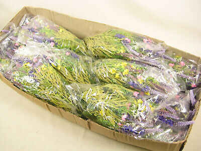 12x Wholesale Job Lot Artificial Flowers Lavender Rose Buds Daisies Arrangement
