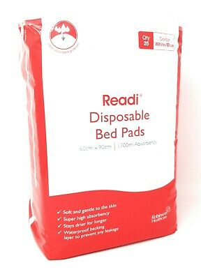 25 Readi Disposable Underpads Incontinence Bed Pads 60 x 90cm SAP 1700ml
