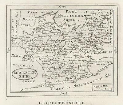 c1780 Original Antique Map LEICESTERSHIRE by John Seller / Francis Grose