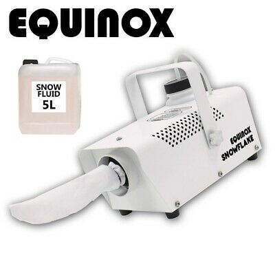 Equinox Snowflake 400W Winter Party Disco Snow Effect Machine with 5L Snow Fluid