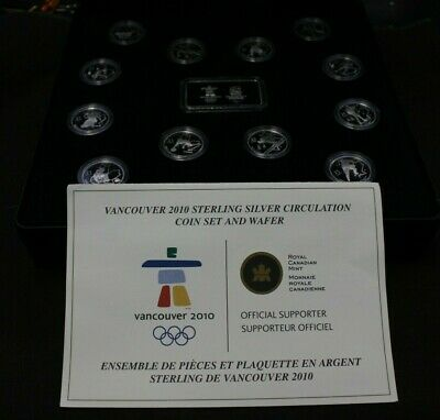Vancouver 2010 Olympic Winter Games Sterling Silver Circulation Coin set