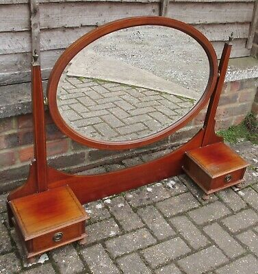 Edwardian Dressing Table Mirror & Drawers Only Tilt Mirror