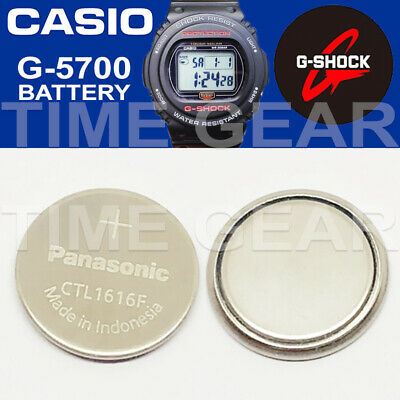 Casio G-Shock G-5700 Solar Ctl1616F Rechargeable Battery / Panasonic Capacitor