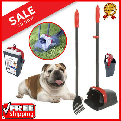 DOG PET POOPER SCOOPER Swivel Bin Rake Waste Pick Up Dogs Poop Cleaning Shovel