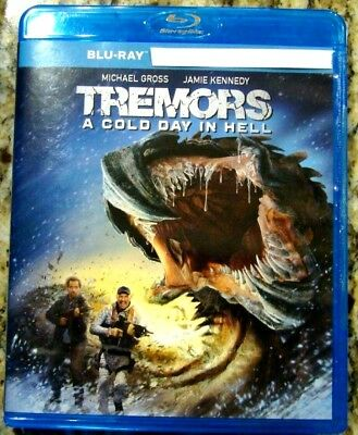 """Tremors A Cold Day In Hell """" Blu-Ray Movie Disc, Case and Artwork"""