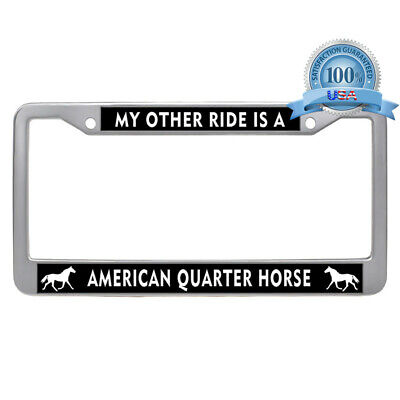 My Other Ride Is A Unicorn Chrome Metal License Plate Frame