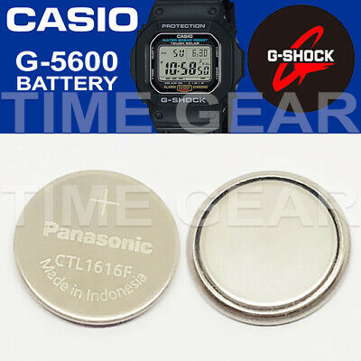 Casio G-Shock G-5600 Solar Ctl1616F Rechargeable Battery / Panasonic Capacitor