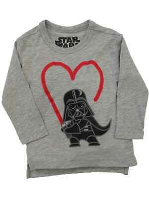 Star Wars Infant & Toddler Boys Darth Vader Long Sleeve Valentines Day Shirt