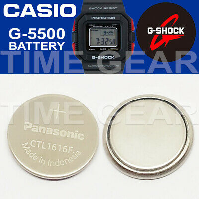 Casio G-Shock G-5500 Solar Ctl1616F Rechargeable Battery / Panasonic Capacitor