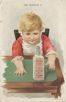 Scott's Emulsion Patent Quake Medicine Victorian Trade Card
